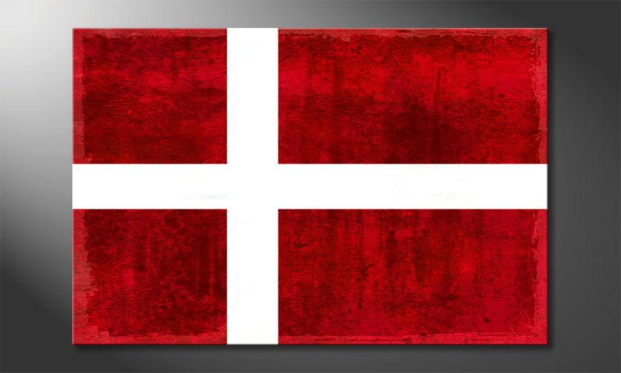 Das moderne Wandbild Dänemark