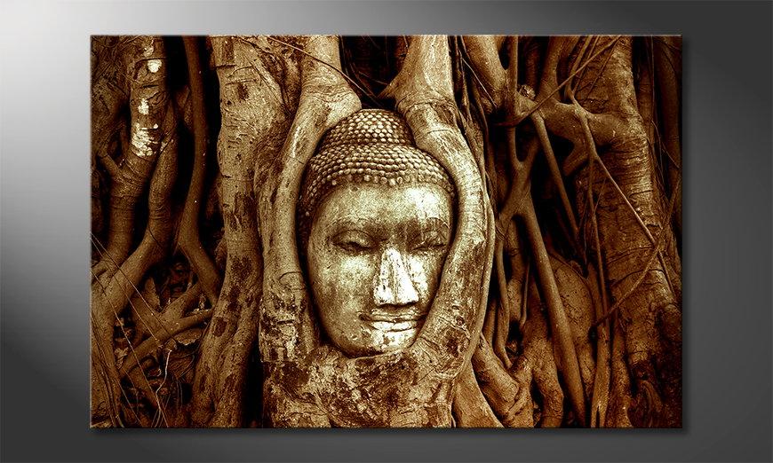Das moderne Wandbild Deep Rooted