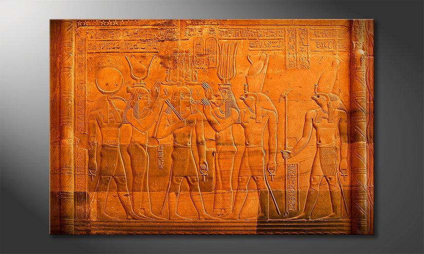 Das moderne Wandbild Egypt