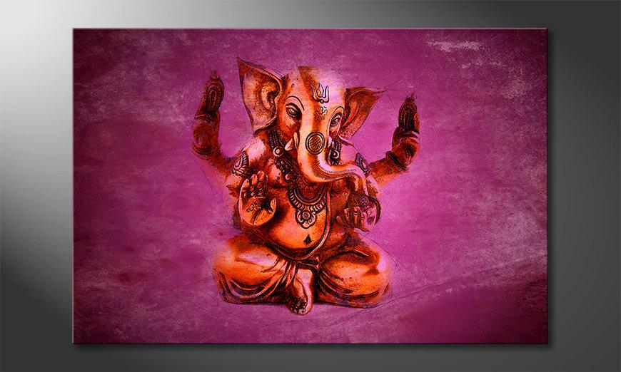 Das moderne Wandbild God Ganesha