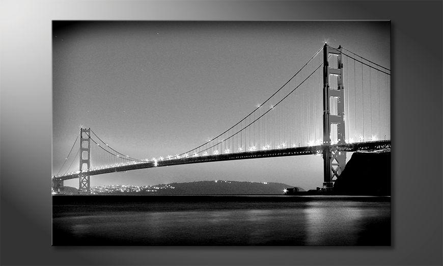 Das moderne Wandbild Golden Gate