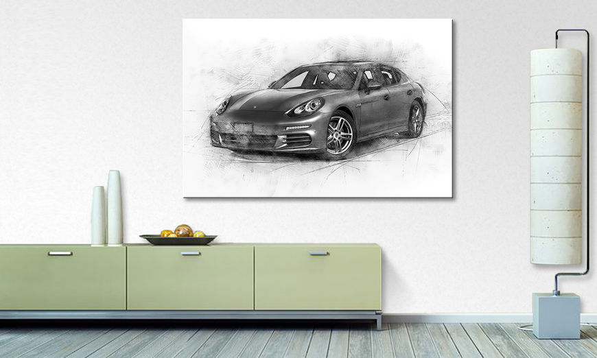 Das moderne Wandbild Grey Power