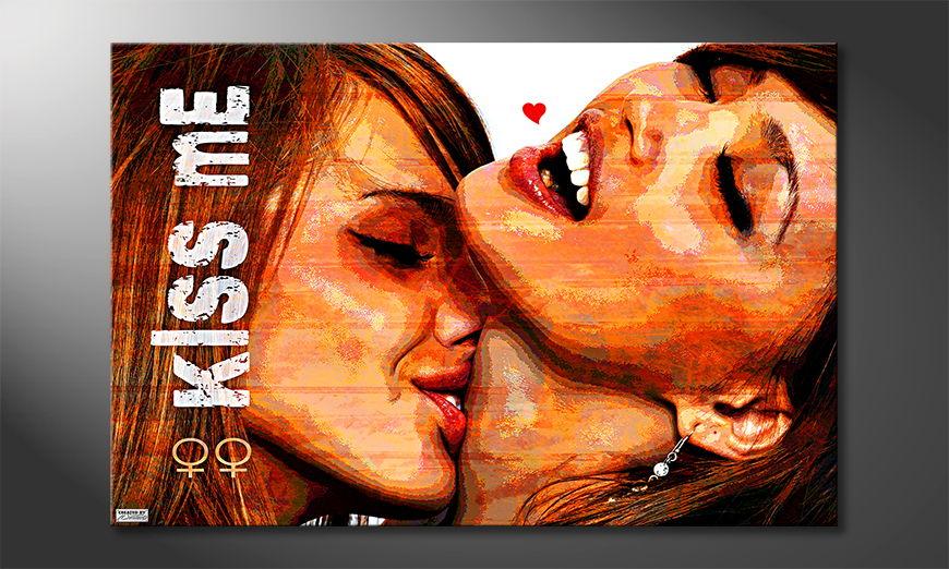Das moderne Wandbild Kiss Me