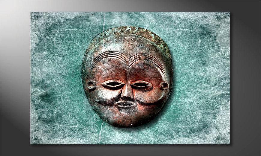 Das moderne Wandbild Luna Face