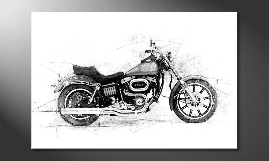 Das moderne Wandbild Motorcycle