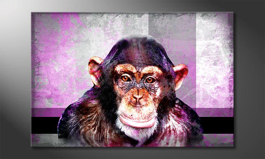 Das moderne Wandbild Mr. Monkey