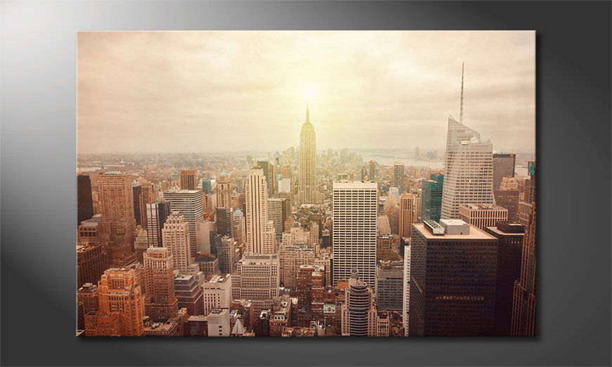 New york city retro leinwandbild moderne bilder in top - Wandbild new york ...