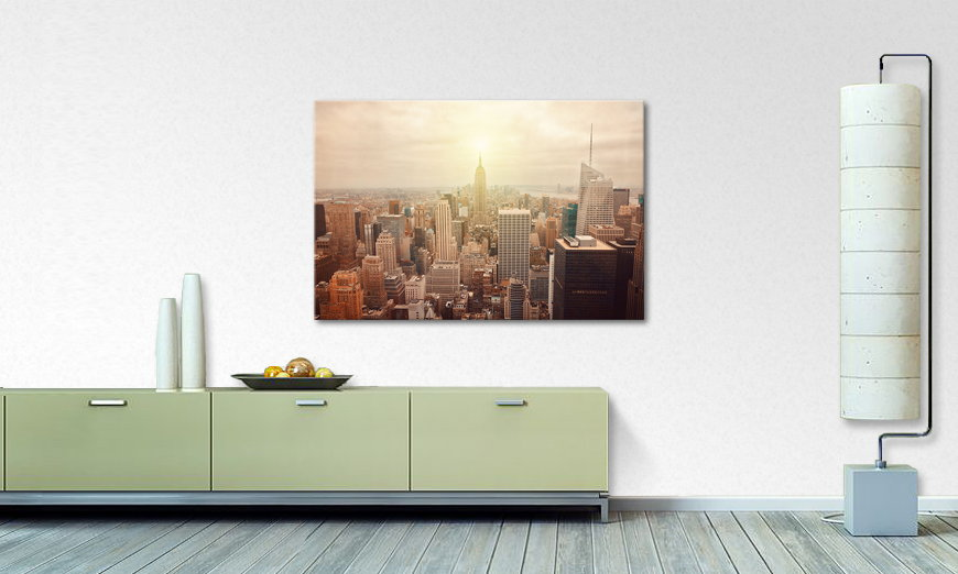 Das moderne Wandbild New York Retro