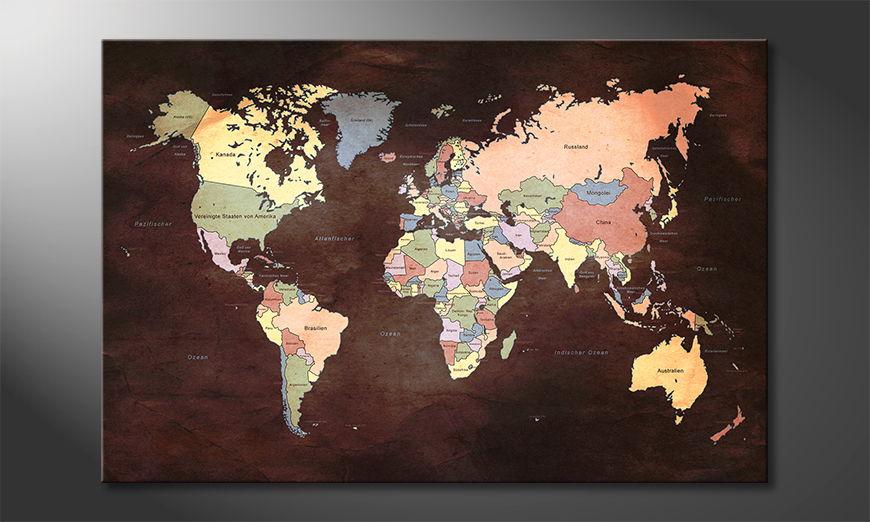 Das moderne Wandbild Oldworldmap two