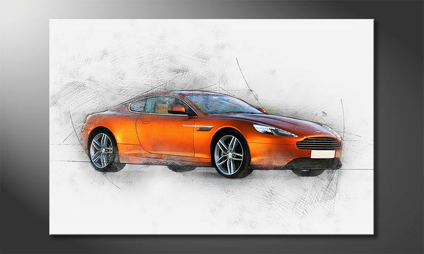 Das moderne Wandbild Orange Power