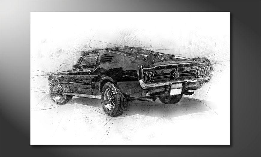 Das moderne Wandbild Pure Mustang