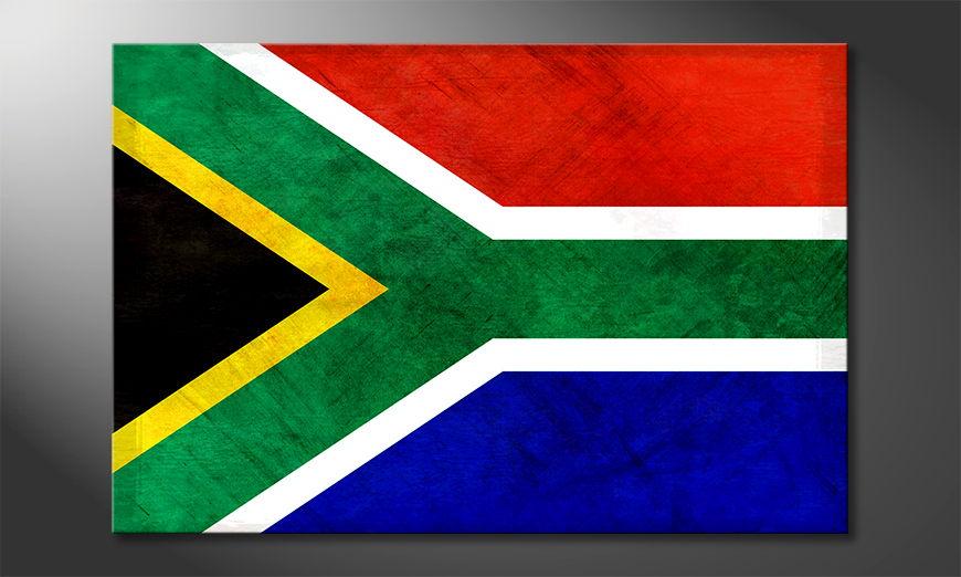 Das moderne Wandbild Südafrika