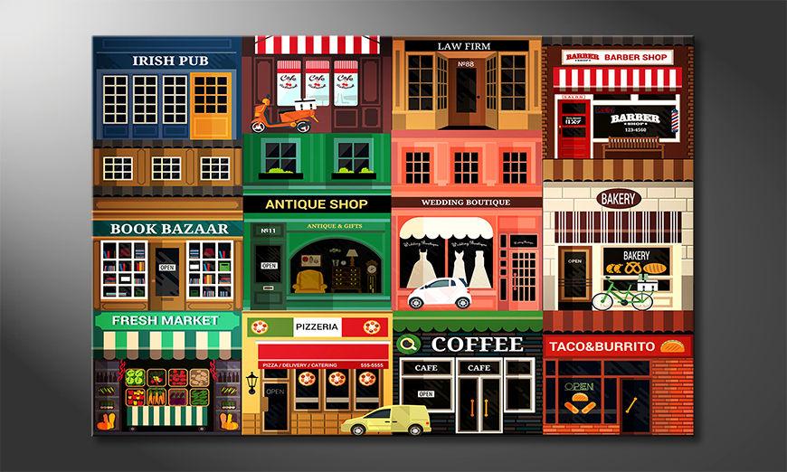 Das moderne Wandbild Shops