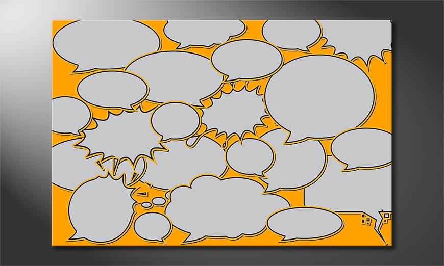 Das moderne Wandbild Speech Bubbles in 6 Größen