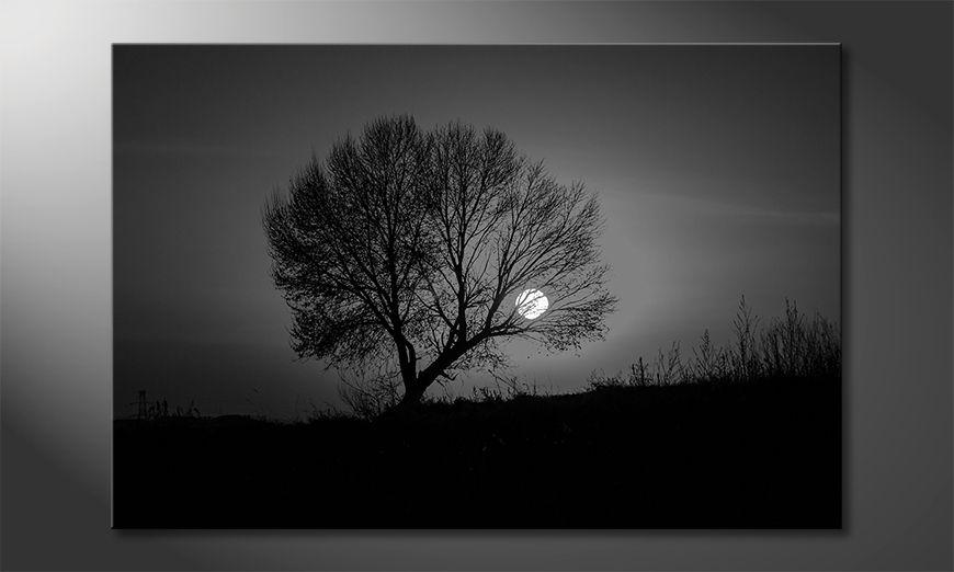 Das moderne Wandbild Sundown