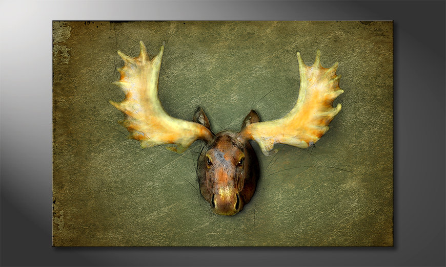 Das moderne Wandbild The Elk