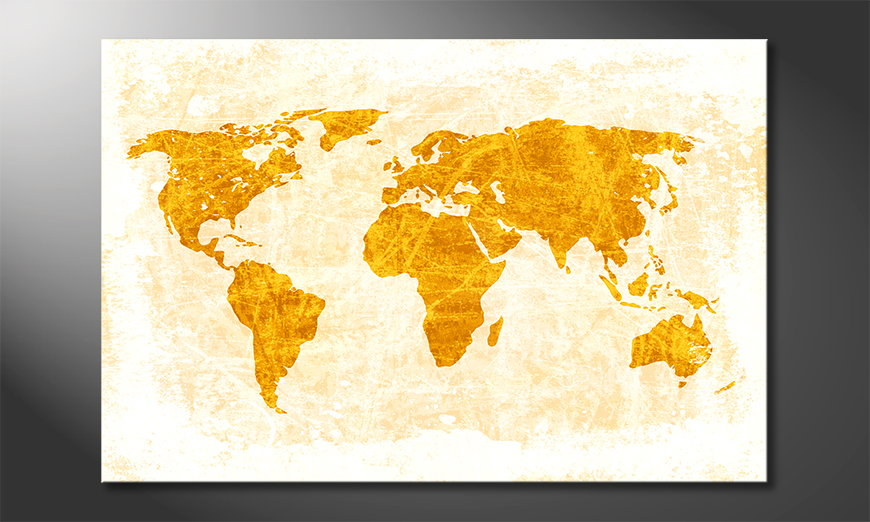 Das moderne Wandbild Weltkarte Nr7