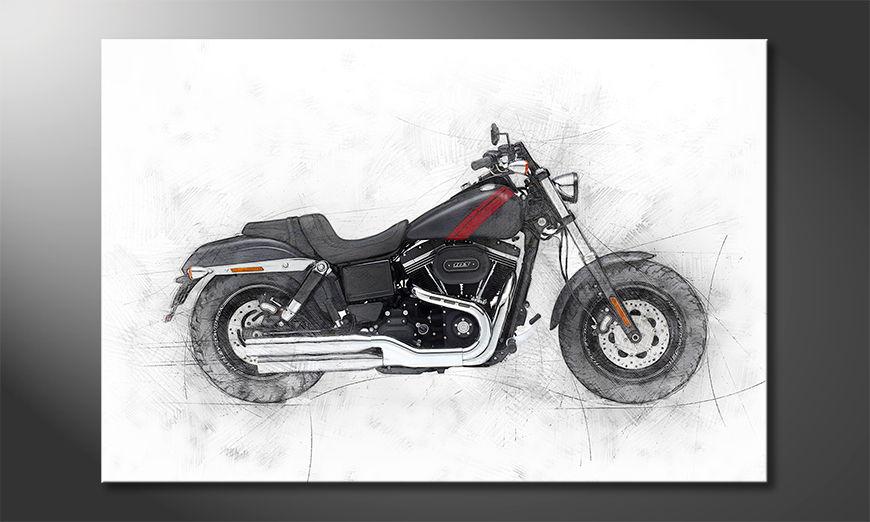 Das moderne Wohnzimmerbild Motorbike uno