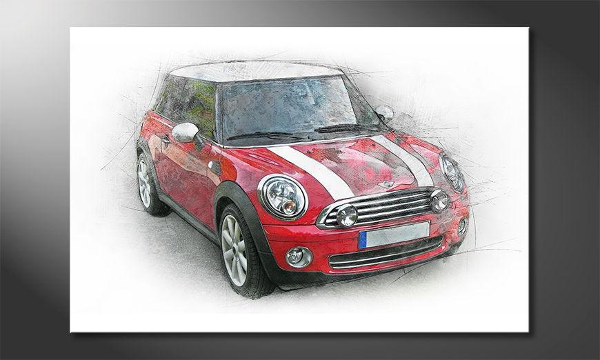 Das rote Wandbild Great Mini
