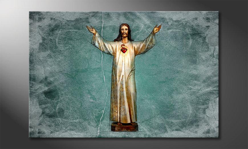 Das schöne Bild Blessing Jesus