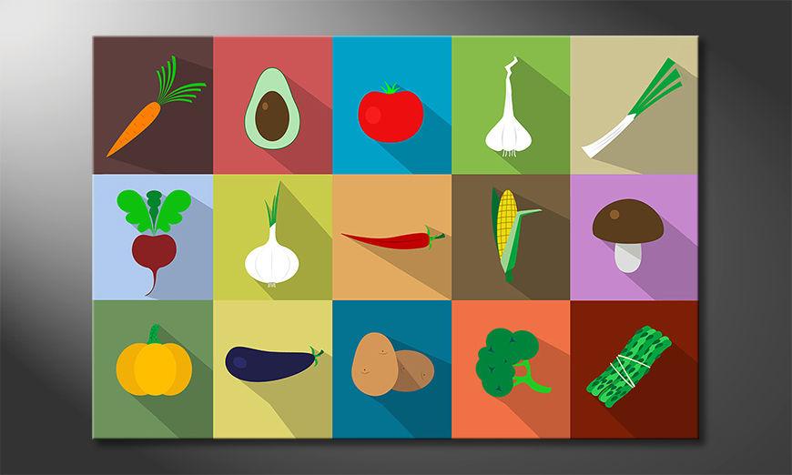 Das schöne Bild Funny Vegetables