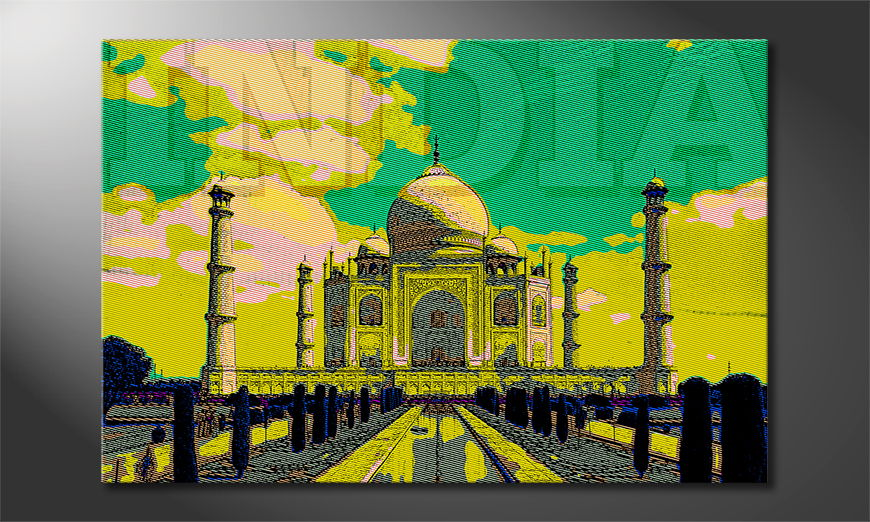 Das schicke Leinwandbild Taj Mahal