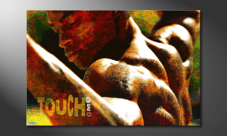 Das sexy Wandbild Touch Me