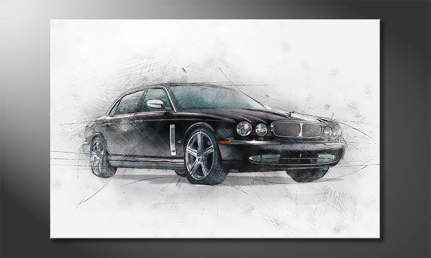 Das wunderschöne Auto Black Jag