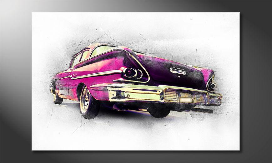 Der Klassiker als Wandbild Pink Chevrolet