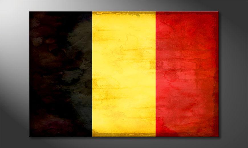 Der hochwertige Leinwanddruck Belgien