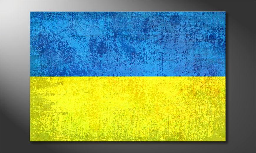 Druck auf Leinwand: Ukraine