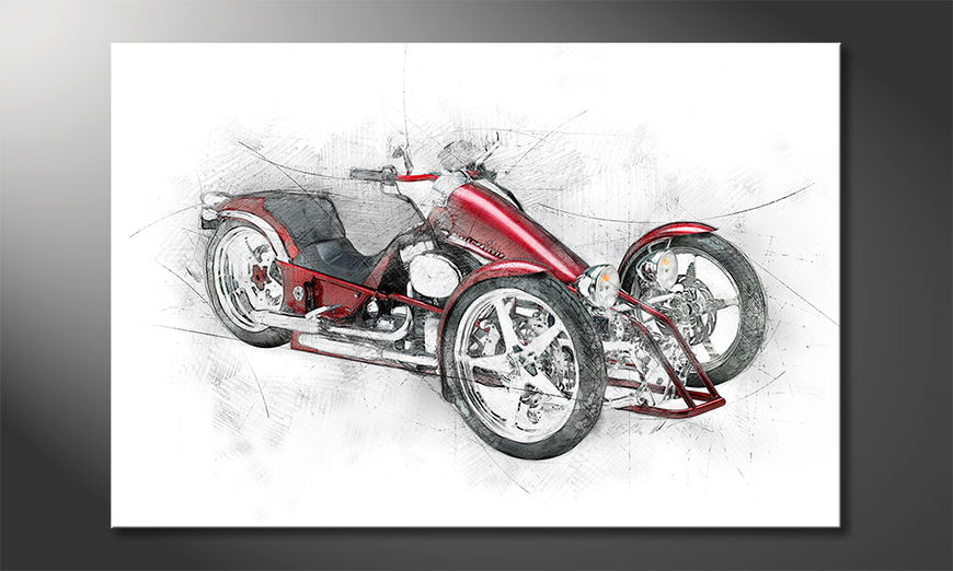 Eyecatcher auf Leinwand Motorcycle five