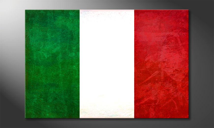 Flagge als Leinwandbild: Italien