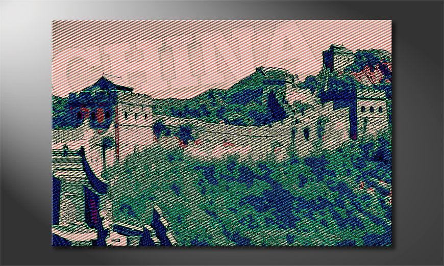 Gedrucktes Leinwandbild Chinesische Mauer