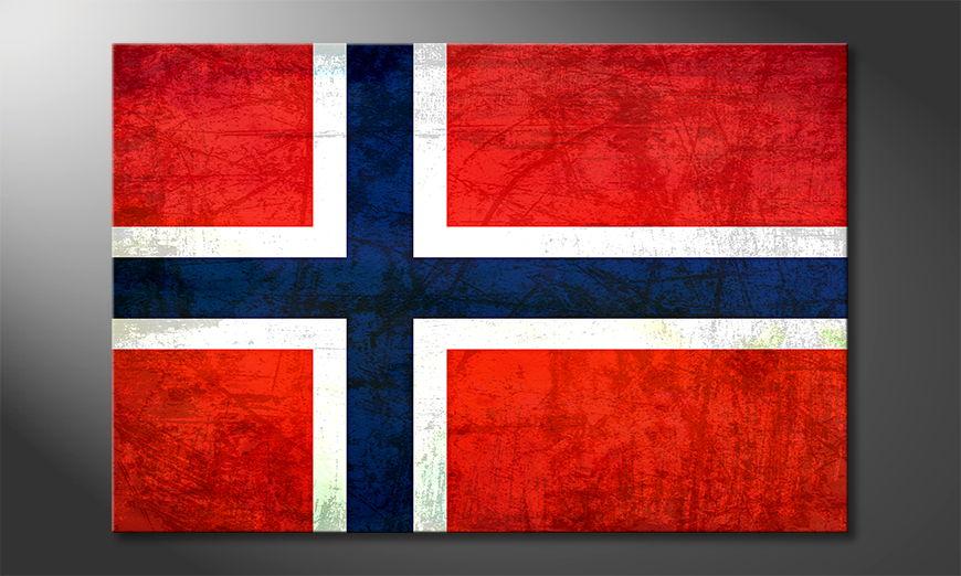 Hochwertiger Leinwanddruck: Norwegen