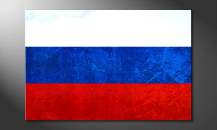 Hochwertiger Leinwanddruck: Russland
