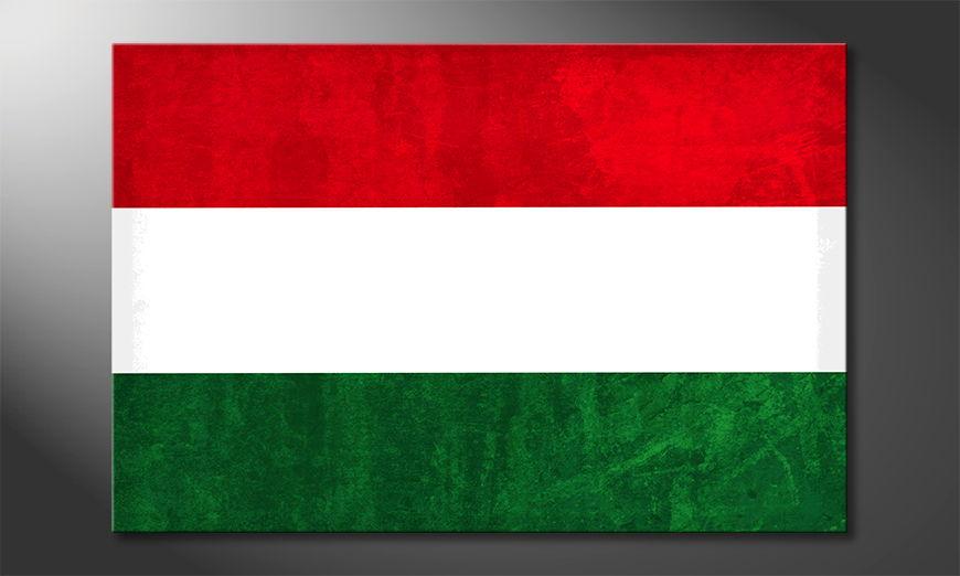 Hochwertiger Leinwanddruck: Ungarn