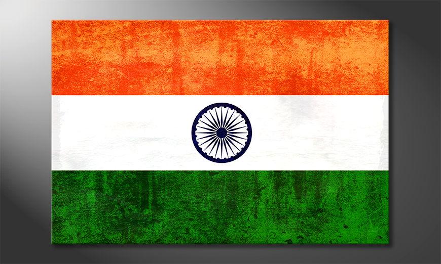 Hochwertiges Wandbild: Indien