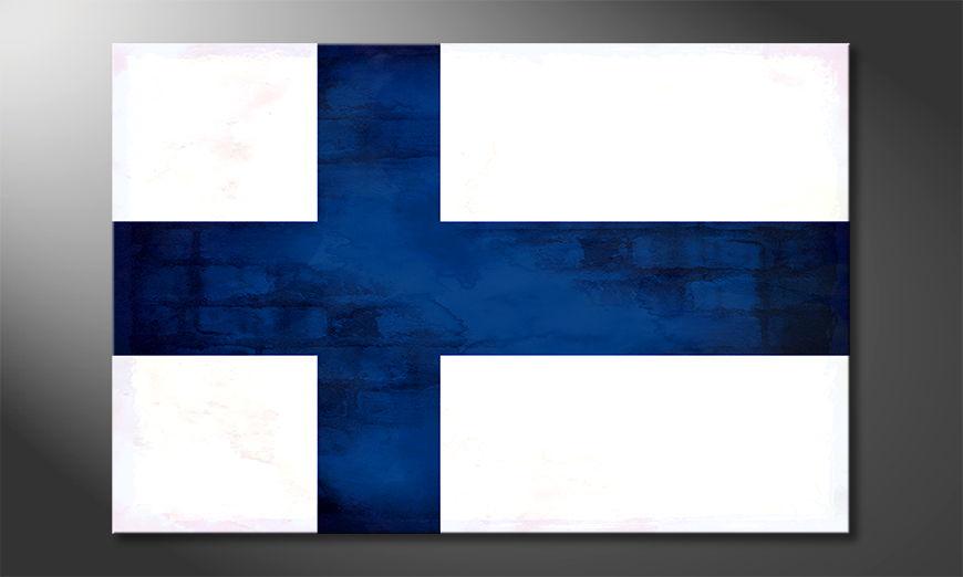 Leinwand auf Rahmen:Finnland