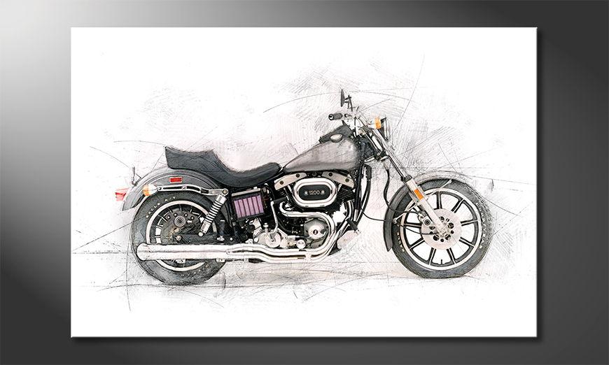 Moderne Leinwanddruck Motorcycle