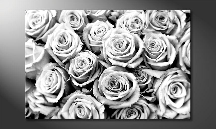 Moderne Wanddekoration Creamy Roses