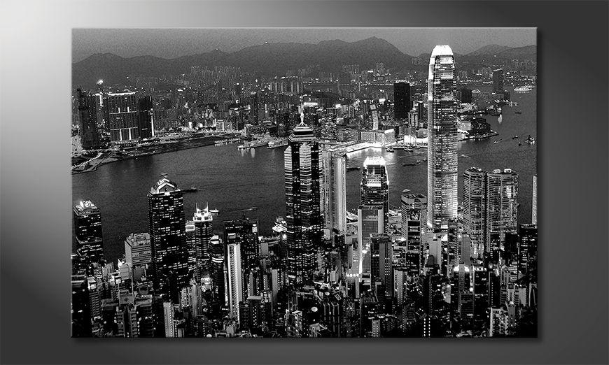 Moderne Wanddekoration  Hongkong View