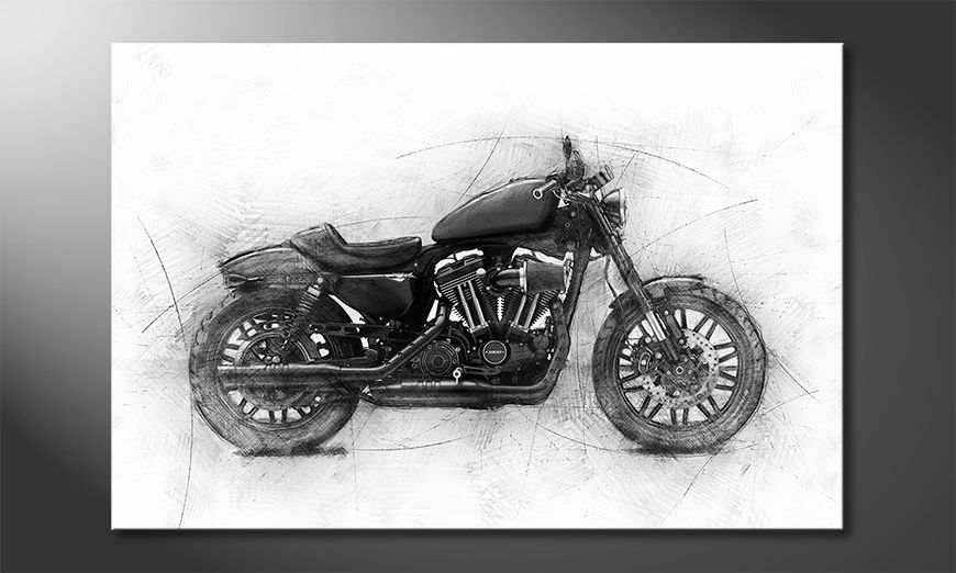 Moderne Wanddekoration Motocycle Uno