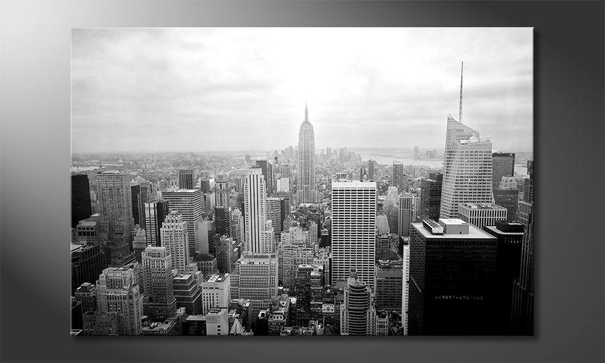 Moderne Wanddekoration New York Retro