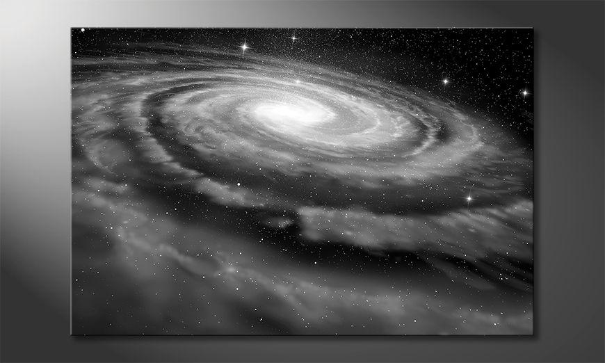 Moderne Wanddekoration  Spiral Galaxy