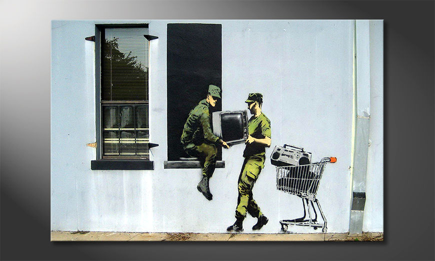 Moderne Wanddekoration TV Loving Army