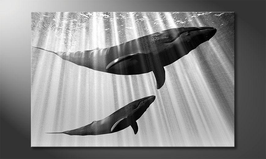 Moderne Wanddekoration Whales
