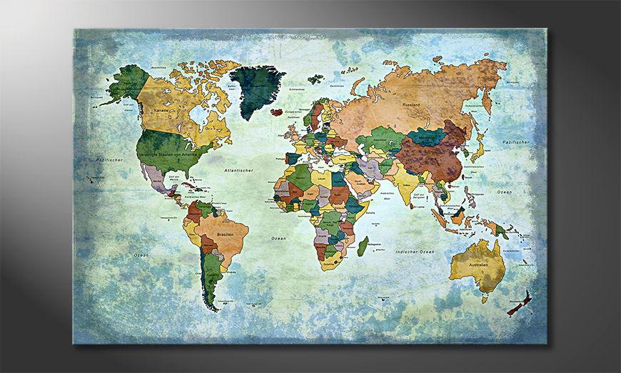 Moderne Weltkarte Oldworldmap one