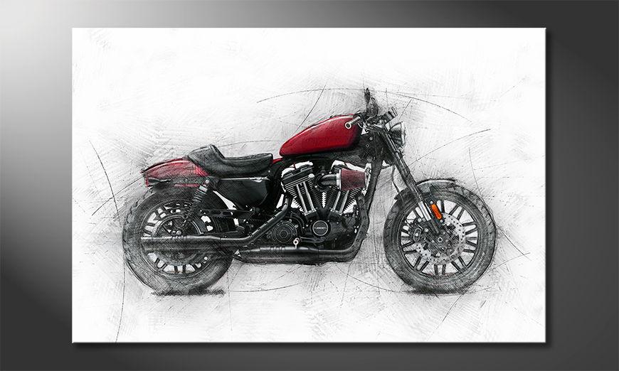 Unser Leinwandbild Motocycle uno
