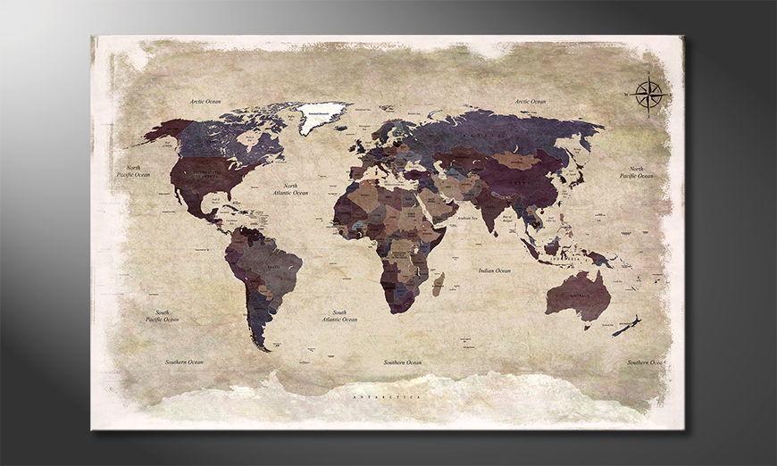 Unser modernes Bild Old Worldmap 3